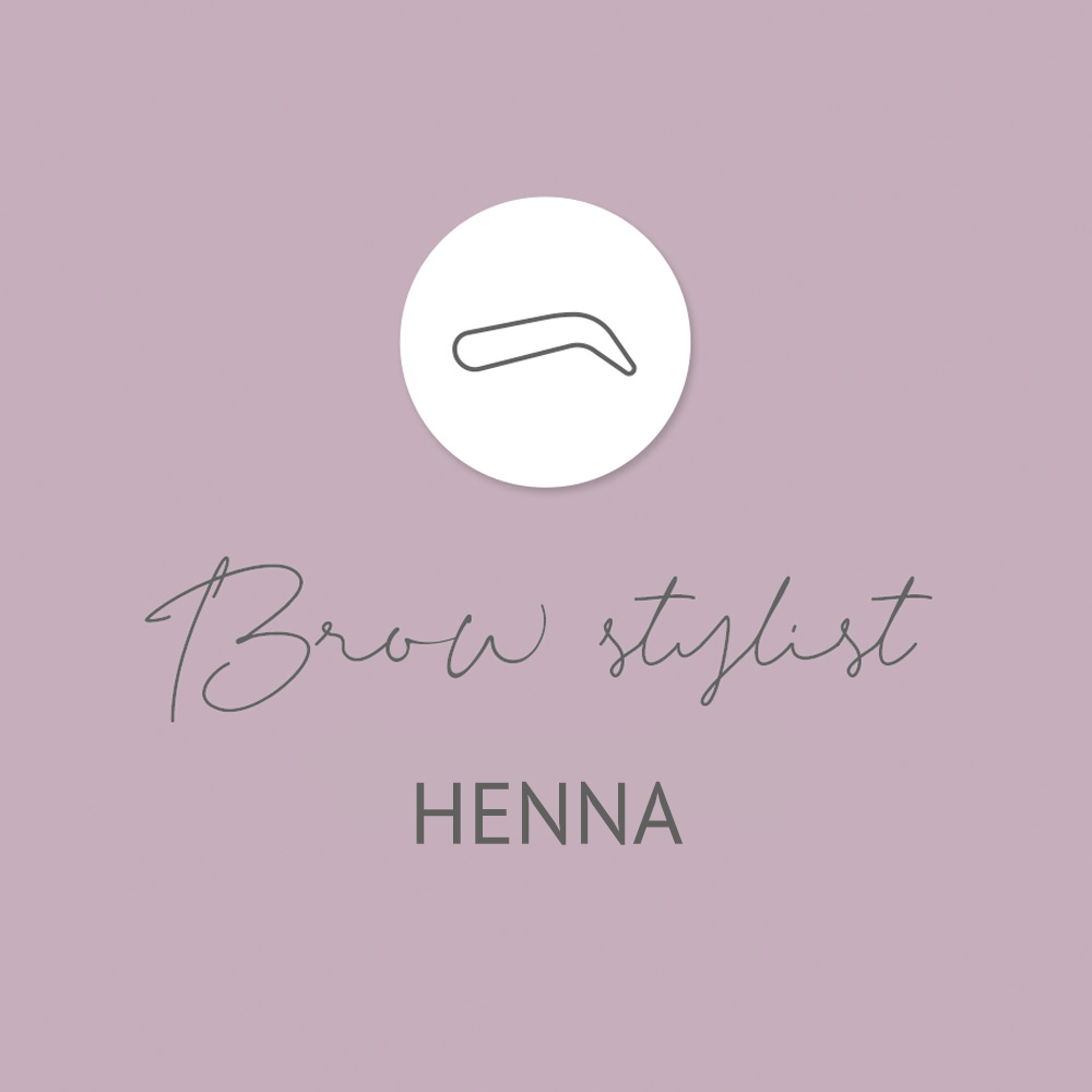 Henna Brow Stylist training